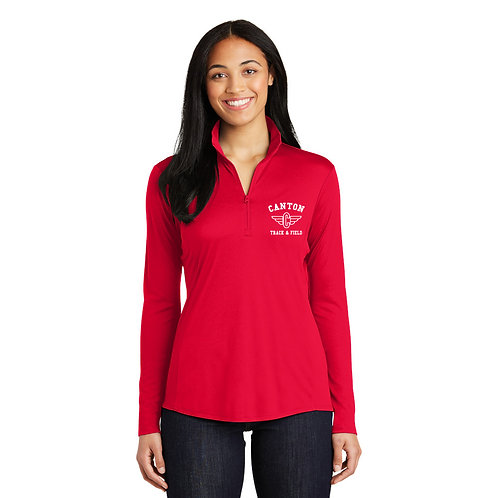 Canton Track LST357 Ladies Quarter-Zip Pullover (Embroidered)