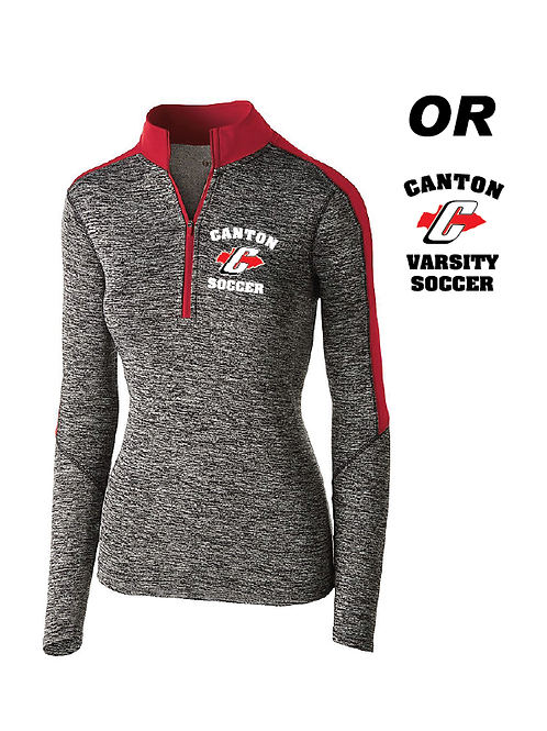 Canton Girl's Soccer 222742 Ladies Electrify 1/2 Zip Pullover
