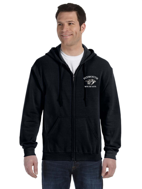 Embroidered Plymouth G186 Adult Heavy Blend 50/50 Full-Zip Hoodie