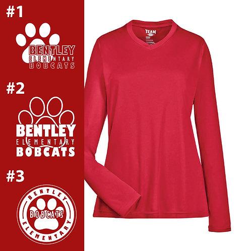 Bentley Bobcats Printed TT11WL Ladies' Performance Long-Sleeve T-Shirt
