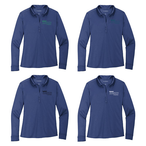Plymouth Library L540LS Ladies Performance Long Sleeve Polo