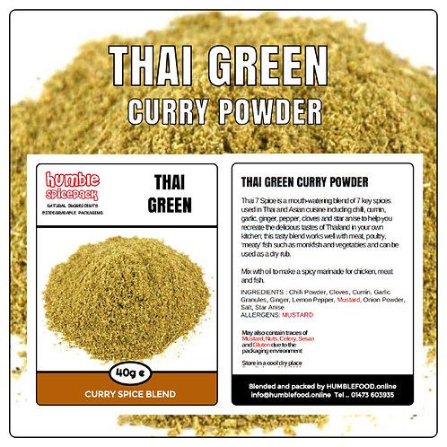 THAI GREEN Curry Powder Blend - 40g