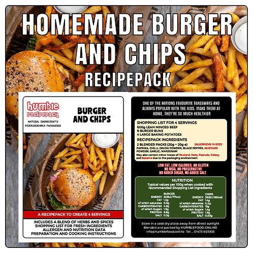 HOMEMADE BURGER AND CHIPS - RecipePack