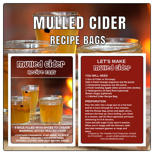 MULLED CIDER RECIPE BAGS x3