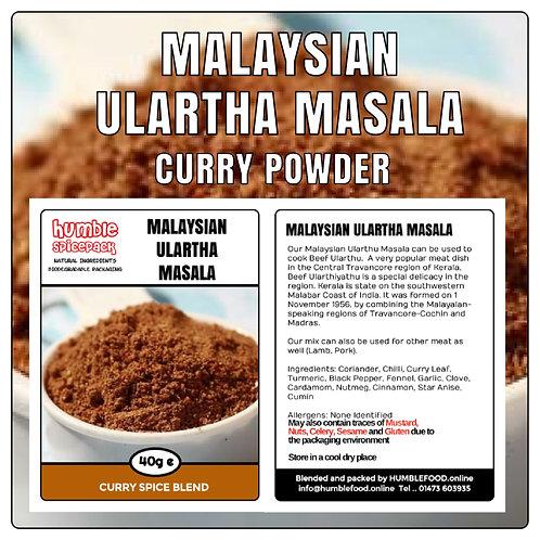 MALAYSIAN ULARTHA MASALA Curry Powder Blend - 40g