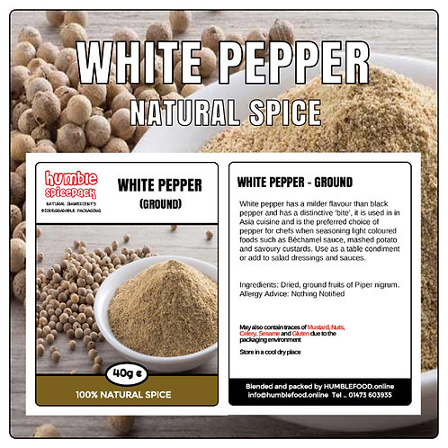 WHITE PEPPER (Ground) - 40g
