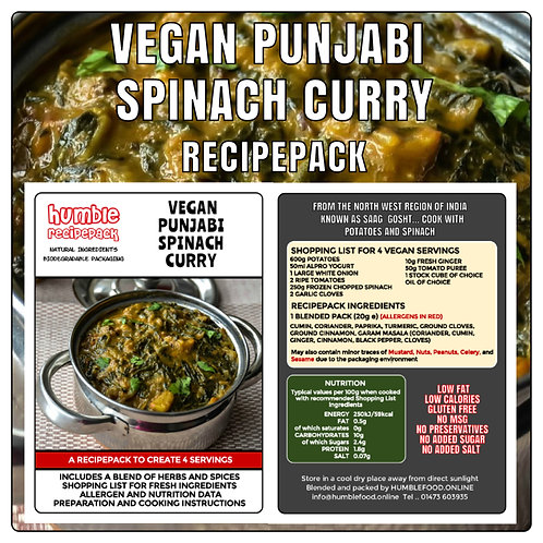 VEGAN PUNJABI SPINACH CURRY - RecipePack