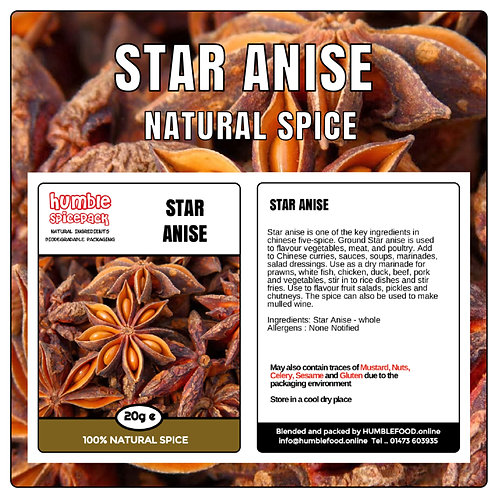 STAR ANISE (Whole) - 20g