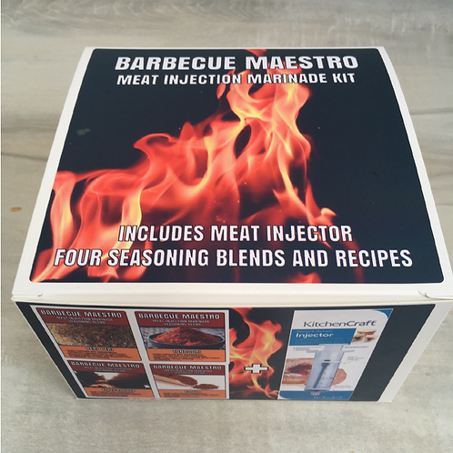 BARBECUE MAESTRO - Meat Injection Marinade Kit