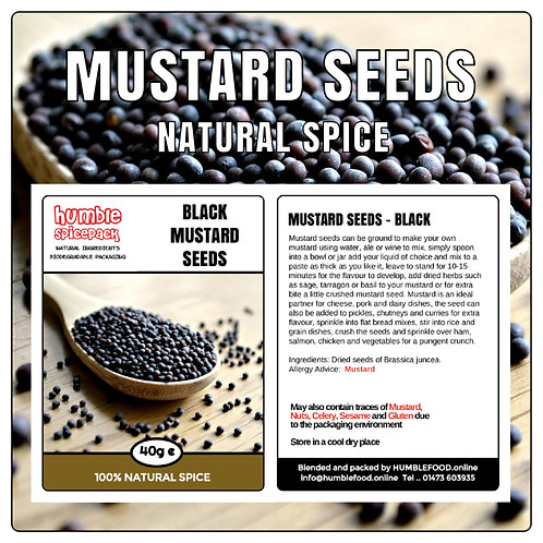 MUSTARDS SEEDS (Black) - 40g