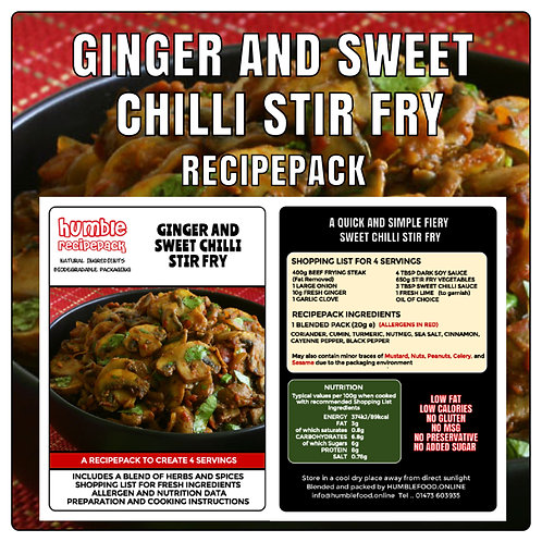 GINGER AND SWEET CHILLI STIR FRY - RecipePack