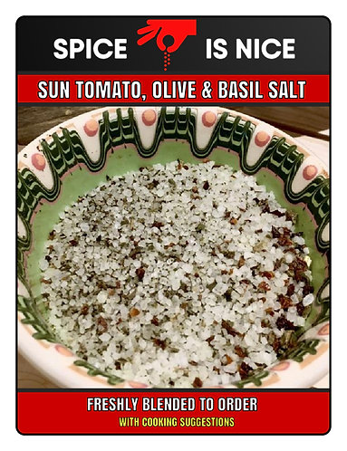 TOMATO, OLIVE AND BASIL SALT Premium Seasoning - 75g