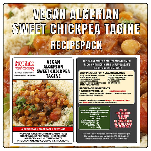 VEGAN ALGERIAN SWEET CHICKPEA TAGINE - RecipePack