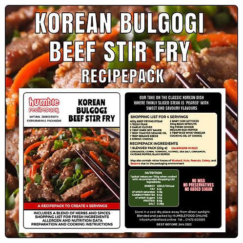 KOREAN BULGOGI BEEF STIR FRY - RecipePack