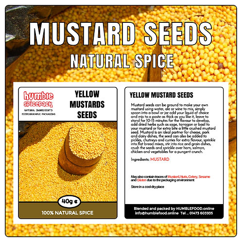 MUSTARDS SEEDS (Yellow) - 40g