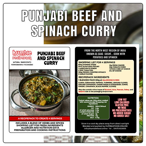PUNJABI BEEF AND SPINACH CURRY - RecipePack