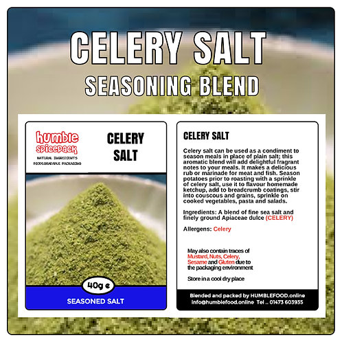 CELERY SALT Seasoning Blend - 40g