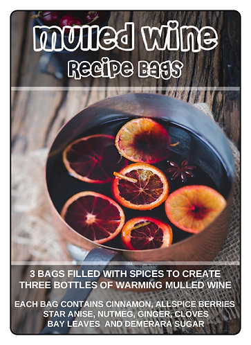 MULLED WINE RECIPE BAGS x3