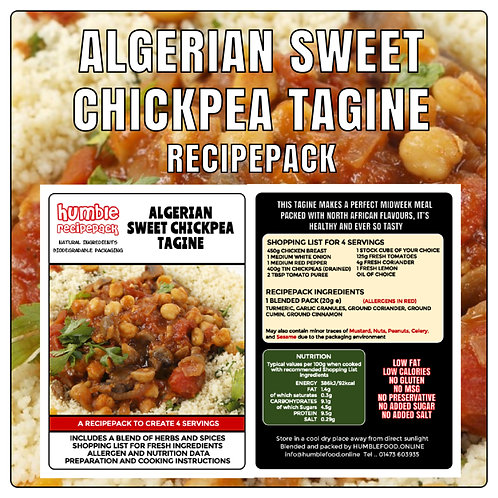 ALGERIAN SWEET CHICKPEA TAGINE - RecipePack
