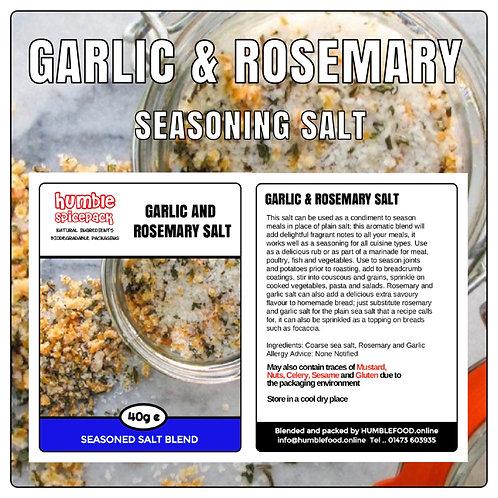 GARLIC AND ROSEMARY SALT Seasoning Blend - 40g