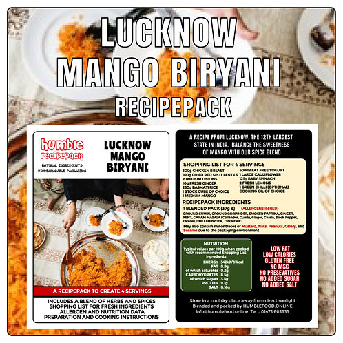 LUCKNOW MANGO BIRYANI - RecipePack