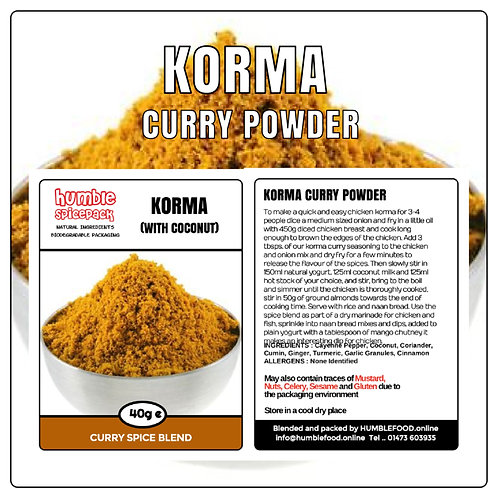 KORMA Curry Powder Blend - 40g