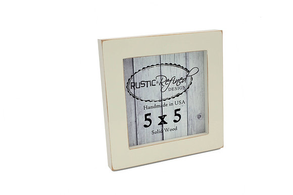 "5x5 1"" Gallery Picture Frame - Off White"