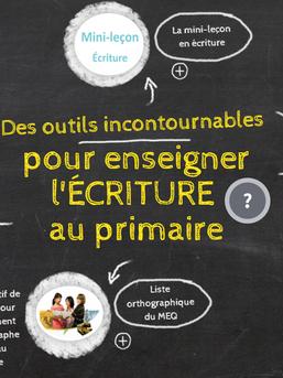 Infographie: Des outils incontournables pour enseigner l'écriture au primaire