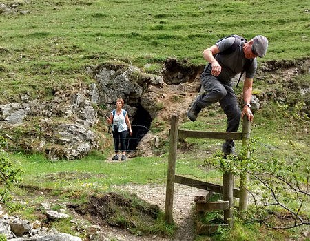 Derbyshire walk- jumping the stile