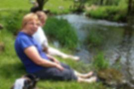 Derbyshire walk- cooling the feet