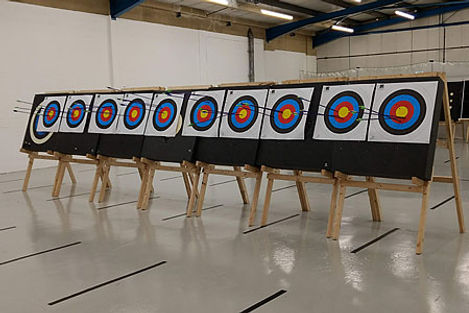 photo of archery targets with arrows