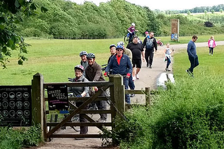 Cycle-Ride-Rutland Water gate crash
