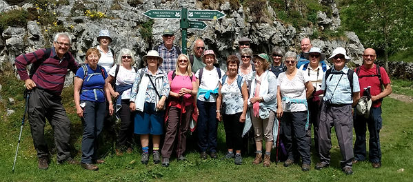 Derbyshire walk- group