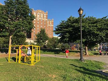 Public Sculptre, Bronx Park, Bronx Art, Joice Kilmer Park, Sitting Together, Public Sculpture
