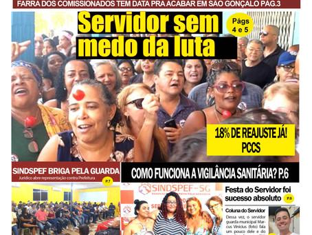 'Voz do Servidor', jornal impresso do Sindspef, já está nas bancas e unidades da prefeitura