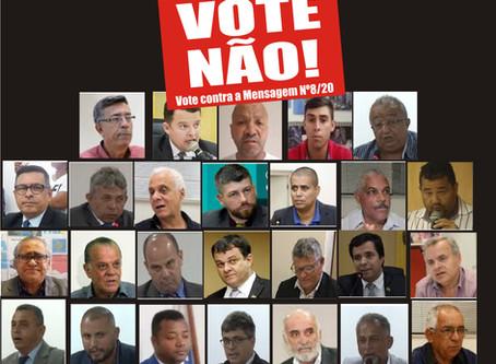 Vereadores votarão taxação de 14% de contribuição previdenciária dos servidores nesta quarta, 22