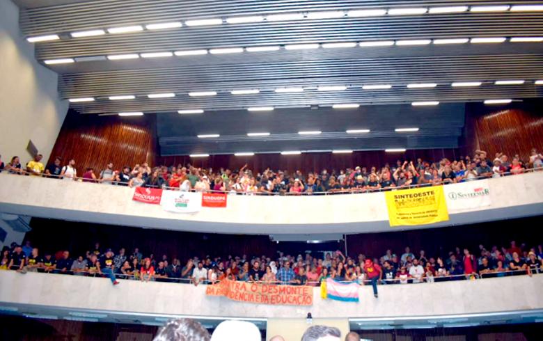 Servidores do Paraná protestaram contra as mudanças na Previdência/Foto: Divulgação
