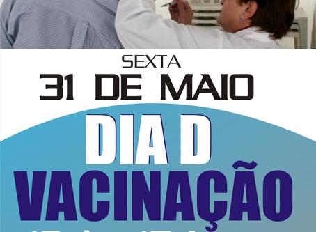 Sindspef promove Dia D de vacinação no dia 31 de maio em sua sede