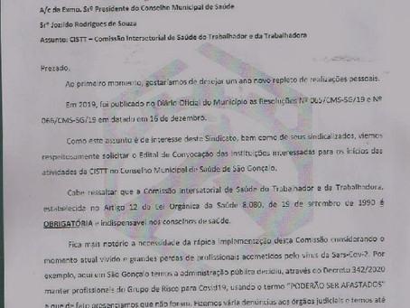Sindspef pede convocação de entidades para compor a CISTT