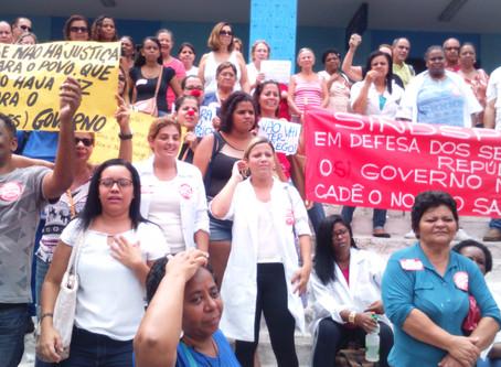 Sem pagamento, servidores entram em greve com grande ato nesta sexta, 9