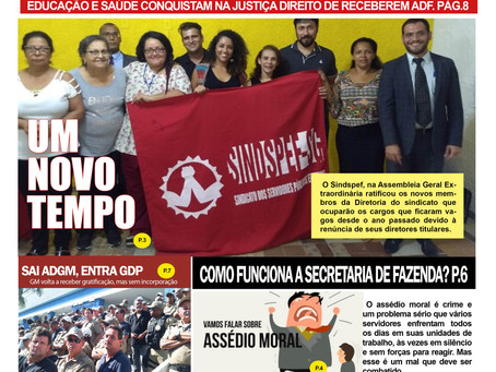 Sindspef lança jornal impresso