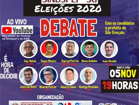 Sindspef promove debate entre prefeitáveis de São Gonçalo nesta quinta (5)