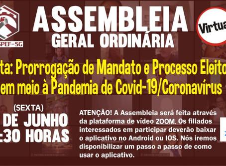 Sindspef convoca assembleia virtual na sexta, 5 de junho, para debater processo eleitoral