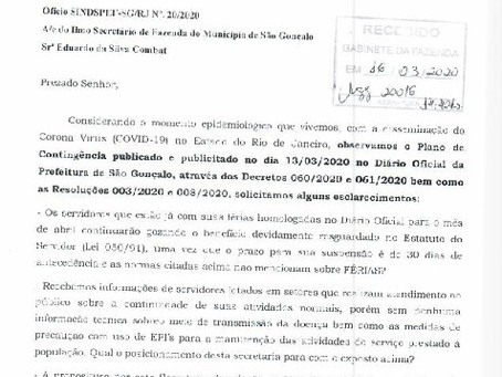 "Sindspef questiona Prefeitura sobre ""isolamento social"" dos servidores"