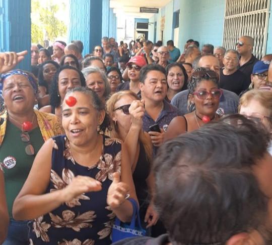 No dia 10 de setembro os servidores fizeram barulho na prefeitura/Foto: Ascom Sindspef