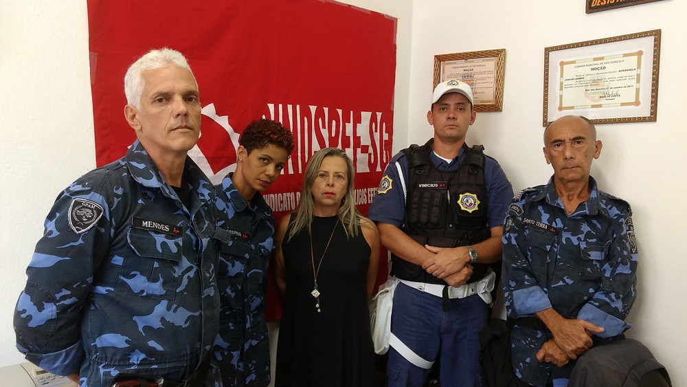 Os gms Mendes, Adriana, Marcus Vinícius e Santo Terra com Rosangela Coelho