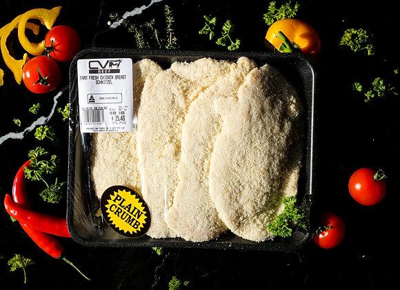 Free Range Chicken Breast Schnitzel p/kg