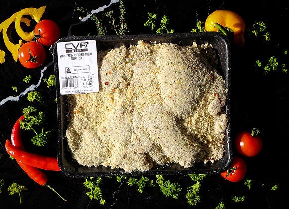 Free Range Chicken Thigh Schnitzel p/kg