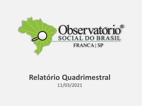 OSBFranca apresentou 3.º Relatório Quadrimestral de 2020