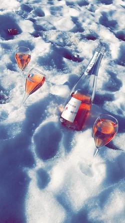 Notre cuvée à la neige